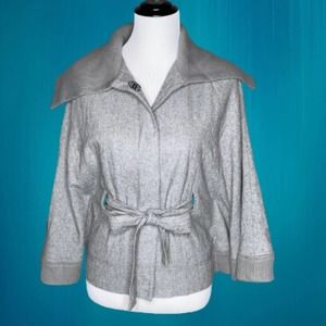 Free People Poncho - Cape - Jacket in Gray